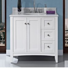 "Shaker Americana 36"" Vanity Drawer - right - Polar White"