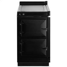 """AGA Hotcupboard 20"""" Electric Black with Stainless Steel trim"""