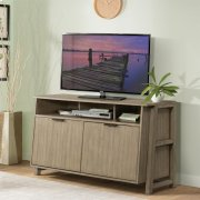 Perspectives - Entertainment Console - Sun-drenched Acacia Finish Product Image