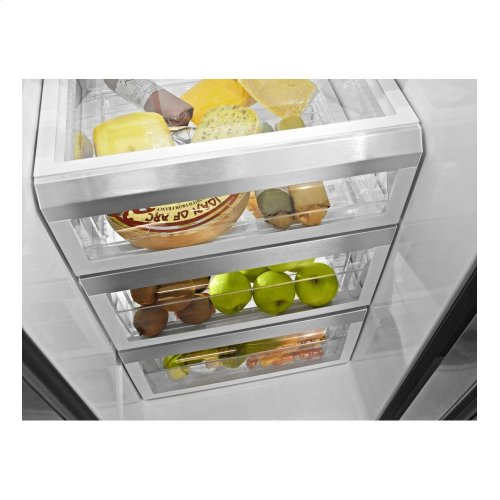 KitchenAid 24 Cu. Ft. Counter-Depth Side-by-Side Refrigerator, Pro Line Series - Stainless Steel