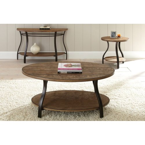 """Denise End Table, 24"""" Round 24""""H"""