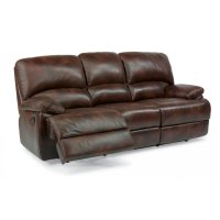 Dylan Leather Three-Cushion Chaise Reclining Sofa Product Image