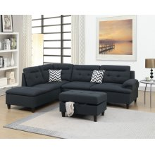 F6588 / Cat.19.p12- 3PCS SECTIONAL BLACK