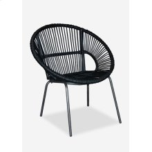 Round Rattan Chair With Metal Legs (28X31X32)