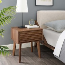 Render End Table Nightstand in Walnut