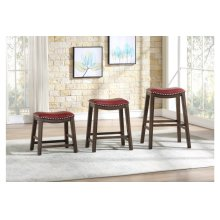 29 Pub Height Stool, Red