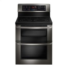 LG Black Stainless Steel Series 6.7 cu. ft. Electric Double Oven Range With EasyClean®
