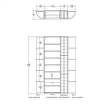 Apex 7' Mahogany Wine Rack Kit (QR-7, WC-7, CHP/MAG-7, QR-7) - READY TO SHIP