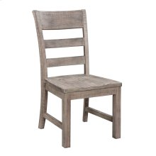 Side Chair-slat Back W/wood Seat-reclaimed Pine Finish