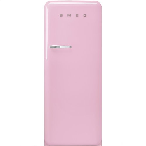 """Approx 24"""" 50'S Style Refrigerator with ice compartment, Pink, Right hand hinge"""