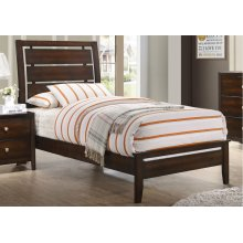 1017 Jackson Twin Bed with Dresser & Mirror