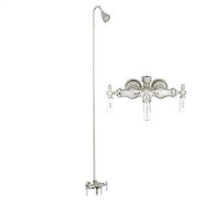Tub/Shower Converto Unit - Diverter Faucet, Old Style Spigot, Adj. Showerhead for Cast Iron Tub Product Image