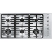 KM 3485 G Gas cooktop with 2 dual wok burners for particularly versatile cooking convenience.