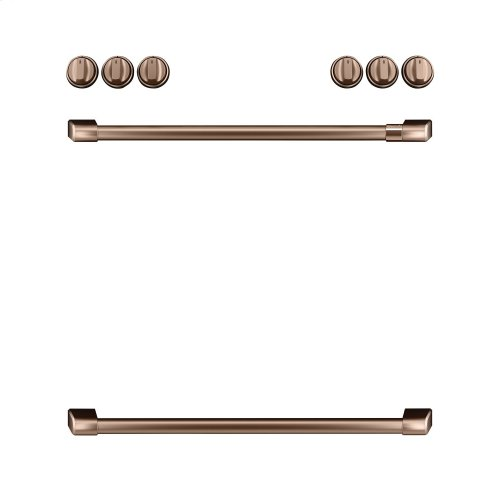 Café Front Control Gas Knobs and Handles - Brushed Copper