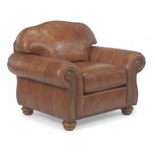 Bexley Leather Chair with Nailhead Trim