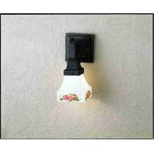 """5""""W X 6""""H 1 LT MISSION SCONCE 7"""" GLASS BUNGALOW SHADE"""