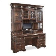 "75"" Credenza Desk with sliding top & storage"