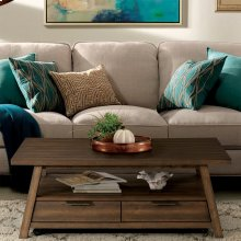 Perspectives - Large Coffee Table - Brushed Acacia Finish