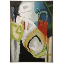 COLOR VISION FRAMED CANVAS ART  Hand Painted Abstract  1.5 inch Frame