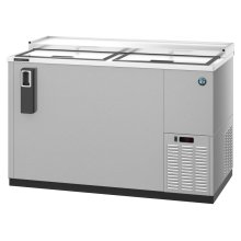 HBC-50-S, Refrigerator, Two Section, Stainless Steel Back Bar Bottle Cooler, Slide Top Doors