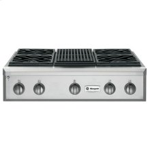 "GE Monogram® 36"" Professional Gas Rangetop with 4 Burners and Grill (Natural Gas)"
