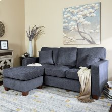 Russell Sectional In Navy
