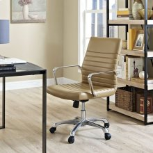 Finesse Mid Back Office Chair in Tan