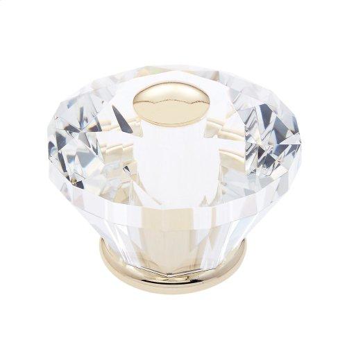 24k Gold 60 mm Diamond Cut Knob