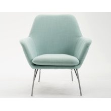 Emerald Home Essex Accent Chair-lagoon Blue-silver Powder Coated Steel Legs-u3323-05-08