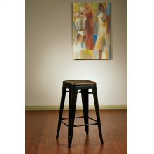 "Bristow 26"" Antique Metal Barstool, Antique Copper Finish, 4 Pack"