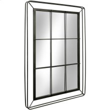 Metal 3D Window Pane Mirror  47in X 32in X 2in  Wall Mirror