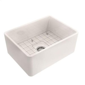 Calixo Single Bowl Fireclay Farmer Sink - Bisque Product Image