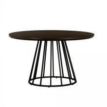 Motion Oak and Metal Round Dining Table