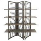 Folding Floor Screen w/Shelves Product Image