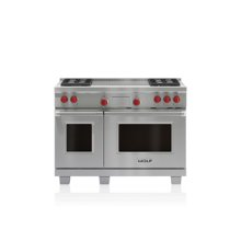 """48"""" Dual Fuel Range - 4 Burners and French Top"""