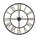 Metal-framed Roman Numeral Open Back Wall Clock Product Image