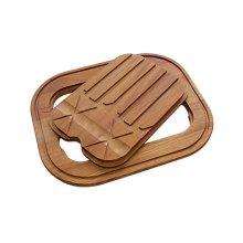 Iroko-wood twin chopping board 8644 003