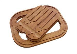 Iroko-wood twin chopping board 8644 003 Product Image