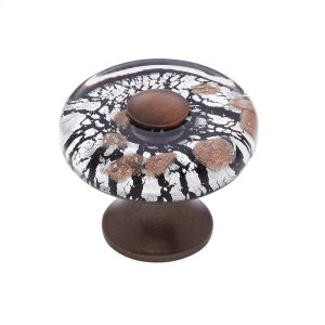 Old World Bronze 35 mm Clear Flat Round Knob Product Image