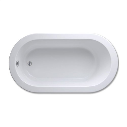 "Easy-Clean High Gloss Acrylic Surface, Oval, MicroSilk® Bathtub, Standard Package, 36"" X 66"""