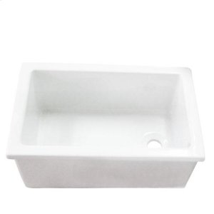 "23"" Fireclay Utility Sink Product Image"