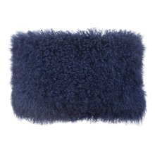 Tibetan Sheep Long Blue Pillow