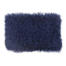 Tibetan Sheep Long Blue Pillow