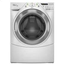 Silver Metallic-on-White Whirlpool® ENERGY STAR® Qualified Duet® 4.1 cu. ft. Front Load Washer