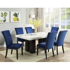 "Camila Blue Velvet Dining chair W/ Nailhead 20""x28""X41"""