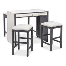 *Kitchen Island W/Table & Stools