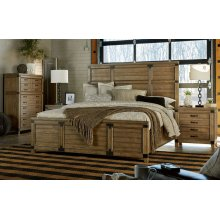 Metalworks Panel Bed, King 6/6