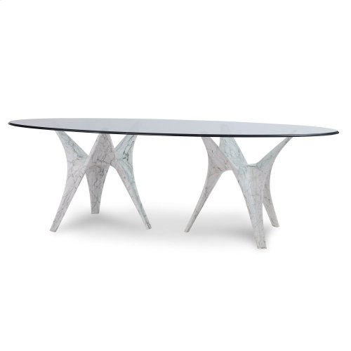 Statuario Double Base Dining Table