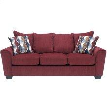 Benchcraft Brogain Sofa in Burgundy Chenille