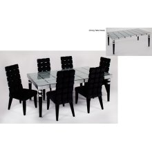 Dining Table with Glass 76x43x30""
